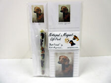 Brown Dachshund Pet Dog List Pad Note Pad Magnet Pen Stationery Gift Pack DAS-1