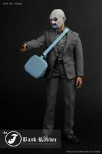 """1/6 Scale Bank Robber The Joker Costume Suit Fit 12"""" Male Action Figure Body Toy"""
