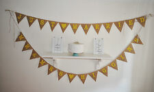 Personalised Mr & Mrs Just Married Hessian Bunting Colour  Rustic Burlap Wedding