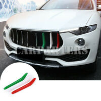 For Maserati Levante ABS Front Grill Grille Insert Trim Cover 3pcs 2016-2019