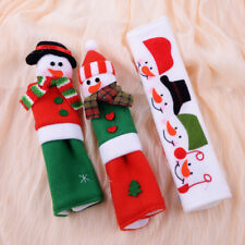 Kitchen Appliance Handle Refrigerator Microwave Xmas Door 3PCS Cover Washable