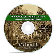 Virginia VA Vol 2 People Cities Family History & Genealogy 150 Books DVD CD B50