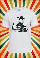 Banksy Geek Rat Gangster Ghetto Funny Men Women Vest Tank Top Unisex T Shirt 658