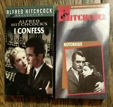 Lot of 2 Alfred Hitchcock VHS Movies: I Confess and Notorious