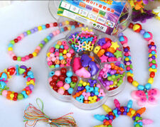 Lot 160pcs Mix Color & Shape Jewelry Beads Set Kids Crafts DIY Flower-shape Box
