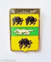 Sweeney Irish Family Surname Pin Badge