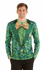 New mens medium Irish clover faux real shirt for costume or St Patricks Day