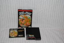 JOE & MAC NINTENDO NES GAME COMPLETE IN BOX NEAR MINT GREAT