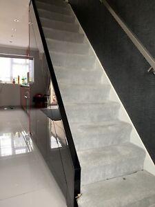 Bespoke Design Under Stairs Storage Wardrobe. Mat Gloss Doors. Made To Measure