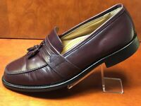 Bostonian 25059 Men's Slip-On Burgundy Leather Tassel Dress Loafers Shoes 10.5 W
