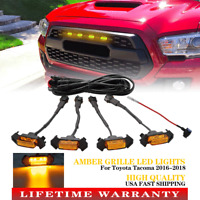 4 Pack LED Amber Grille Lights Fit For Toyota Tacoma TRD PRO 2016-2018 2020