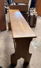 Beautiful Church Pipe Organ Bench Solid Oak. Hauptwerk