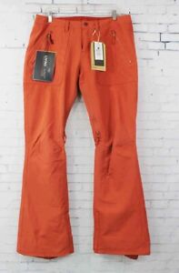 Burton Vida Slim Fit Snowboard Shell Pants Women's Size Large Persimmon New