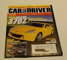 CAR & DRIVER 2009 JANUARY - Mustang, NISSAN 370Z, TL ACURA SH-AWD