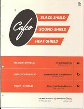 1961 COLUMBIA ACOUSTICS Fireproofing CAFCO Acoustical Crysotile ASBESTOS Catalog
