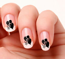 20 Nail Art Decals Transfers Stickers #351 - Wedding Bride & Groom