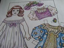 1992 Charles Ventura Victorian Girl Doll Paper Doll / Uncut
