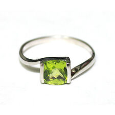 STERLING SILVER GENUINE PERIDOT RING