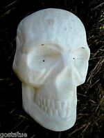 "Skull plastic mold plaster cement mould 7"" x 4"" x 2"" Halloween"
