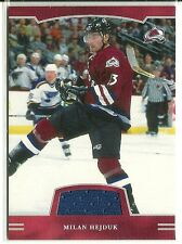 2002-03 ITG BAP First Edition Milan Hejduk Game Worn Jersey Card - Colorado