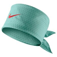New Nike Tennis Bandana Hero Print Jade / Crimson Federer Rafa Nadal 596625-339