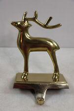 Vintage Solid Brass Reindeer Stocking Holder Single Reindeer Add To Your Sleigh