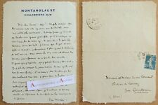 L.A.S 1924 Pierre MORTIER Montanglaust à Coulommiers > Besnard Courtomer lettre
