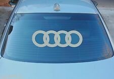 AUDI LARGE REAR WINDOW STICKER GRAPHICS 580mm x 190mm CHOICE OF COLOURS