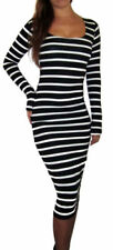 All Seasons Stretch Striped Dresses for Women