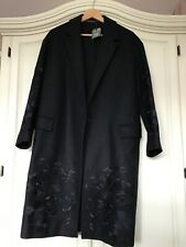 All saints Womens Wool embroidered Coat size small