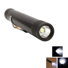 New Mini Pen-type 3w LED AAA Flashlight Torch Lamp MXDL Black