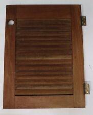 Marine Boat Sailboat Solid Teak Wood Louvered Storage Cabinet Door K with Hinges