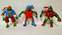 3 Teenage Mutant Ninja Turtles Raphael Michaelangelo Leo Figure TMNT Scootin Lot