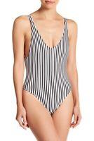 Tee Ink Womens V Neck One Piece Swimsuit Cheeky Striped Sexy Fashion Swimwear 2