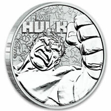 HULK - MARVEL SERIES 2019 1 oz Pure Silver Coin CAPSULE Tuvalu - Perth Mint