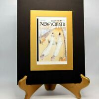 """ROMANCE MATTED  NEW YORKER MAGAZINE PRINT, FRAME 8"""" X 10"""" """"TWO BRIDES"""""""