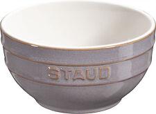 Staub Ceramic Set of 6 Fruit Bowl Serving Bowl Mixing Bowl, round Antique Grey