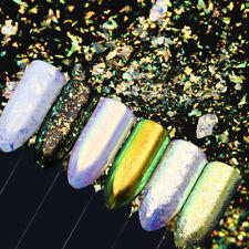 Camaleón Decoración De Uñas Brillo Lentejuelas Neón Pigmento en Polvo Polvo Espejo Iridiscente