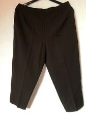BN Ladies Chocolate Brown Petite Work Trouser Elasticated Waist - UK 22 / EU 48