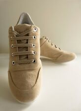 MaxMara Scarpe Trainers Sneakers in camoscio Beige/Shoes Chamois Sneakers EU35