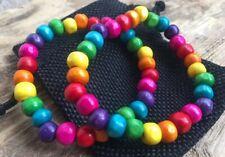 Funky Wooden Beaded Rainbow LGBTQ Pride Elasticated Bracelet Duo + Gift Bag