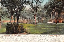COUNCIL BLUFFS IOWA~FAIRMOUNT PARK~BAND STAND-OMAHA NEWS POSTCARD 1907 PMK AVOCA