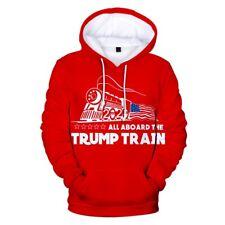 All Aboard The Donald Trump Train 2020 President Hoodie Sweatshirt Sweater RED