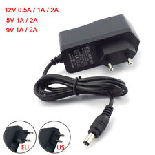 Power Supply Adapter Transformer 12V/9V/5V 2A 1A 500MA for LED Light EU US Plug