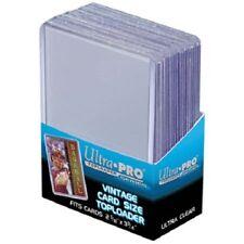 100 Ultra Pro Vintage Toploaders Free Sleeves Top Loaders Top Load Card Holders