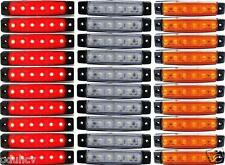 30x 12V Lateral Trasero Perfil Luces De Marcaje Camión Chasis De Remolque Rojo