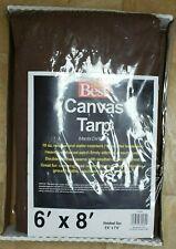 6' x 8' Canvas Tarp 10 oz Extra Heavy Duty Tarpaulin Water Resistant Do it Best