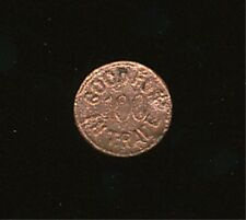 27 - GOOD FOR 100 IN TRADE COPPER TRADE TOKEN, REVERSE IS NUMBERED 8618