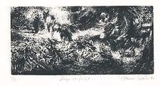 Gravure originale Etienne Lodeho eau-forte signée numérotée