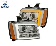 Anzo Projector Headlights Chrome For 07-14 Tahoe/Suburban/Avalanche #111403
